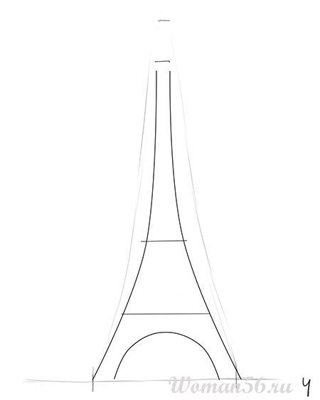 Как нарисовать Эйфелеву башню