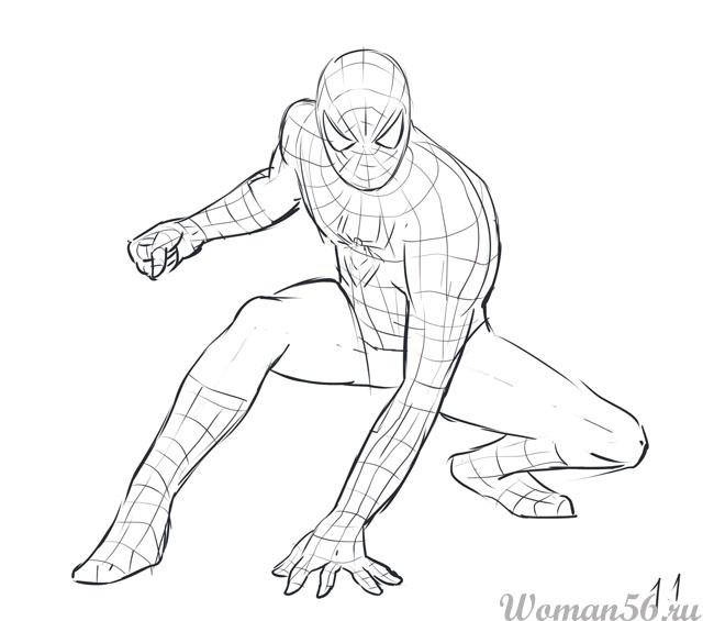 Как нарисовать своими руками человека-паука