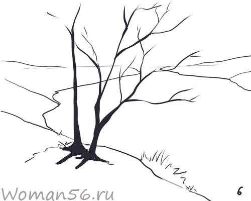 Как нарисовать осень