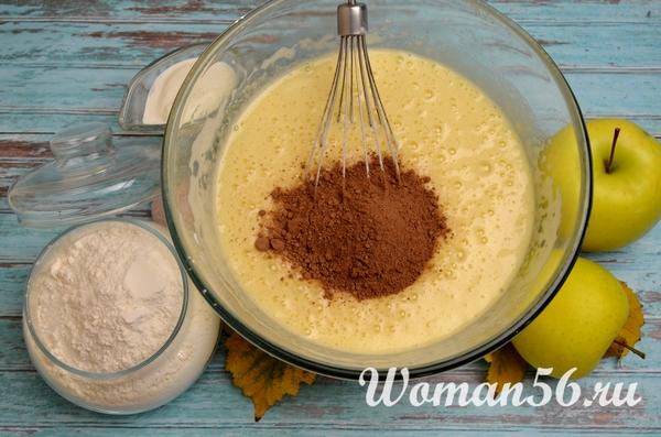 какао для теста шарлотки