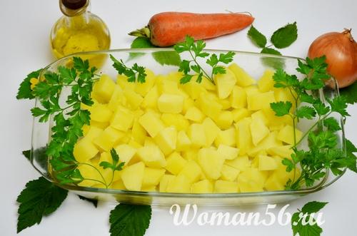 картофель для запекания с рыбой