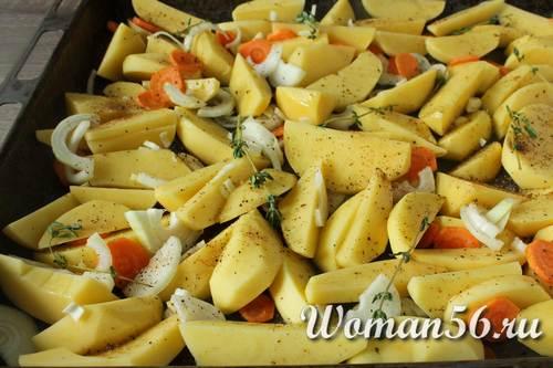 овощи на противне для скумбрии