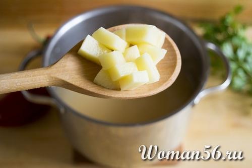 картофель для горохового супа