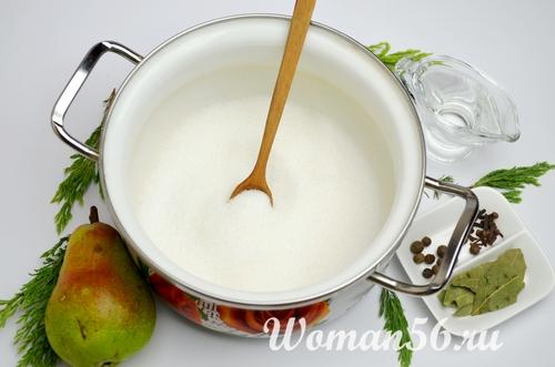 сахар для маринованных груш