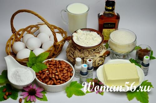 Ингредиенты для Киевского торта