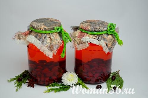 Рецепт кизилового компота на зиму