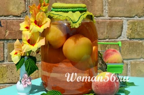 Простой рецепт компота из персиков на зиму