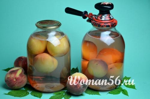 консервация компота из персиков