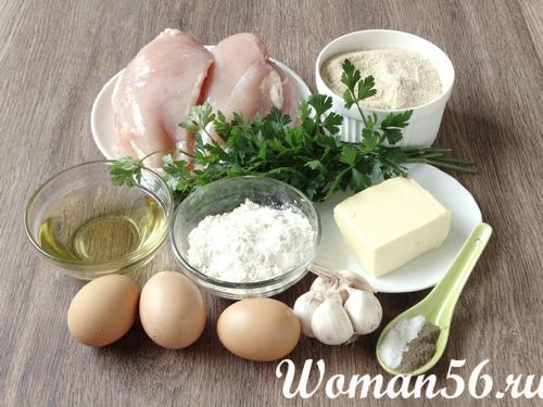 ингредиенты для котлет по-киевски