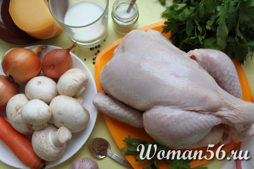 курица с овощами для галантина