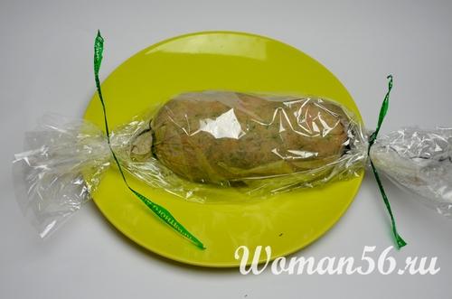 куриный фарш в пакете