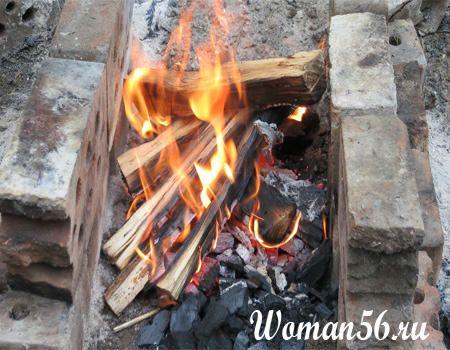 огонь для копчения