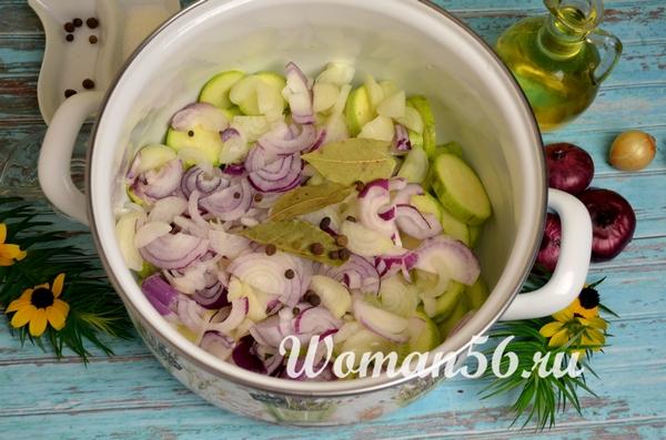 пряности для салата с кабачком и луком