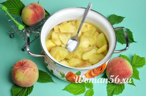 персики с лимонной кислотой