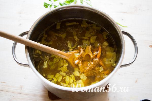 овощи для супа с лисичками