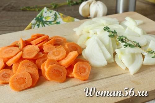 лук с морковью для скумбрии