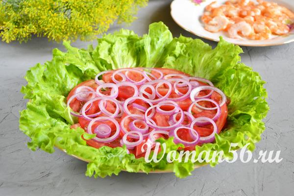 капустный салат с помидорами и луком