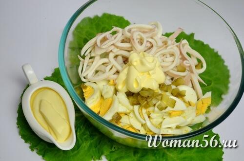 майонез для салата с кальмарами