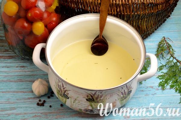 горячий маринад для помидор