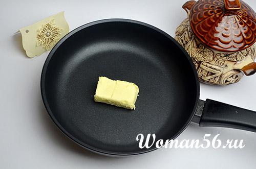 масло на сковороде для соуса