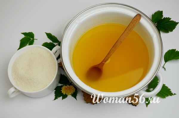 мед из одуванчиков с сахаром