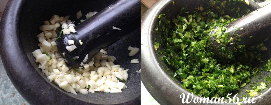 зелень для сливочного соуса