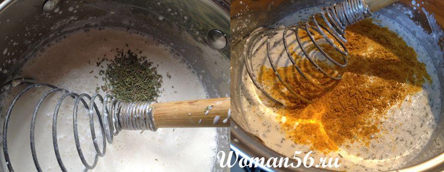 сливочный соус приготовление