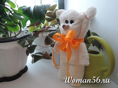 медвежонка из полотенца