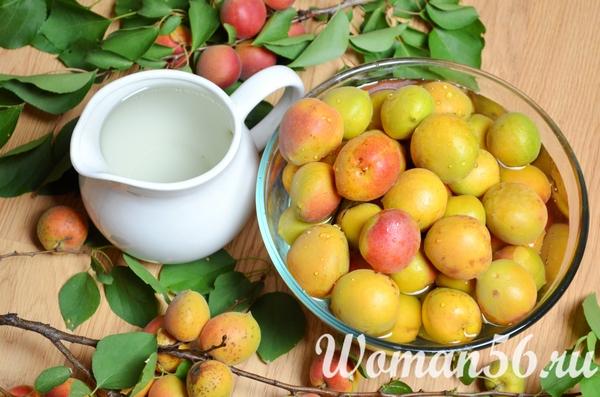 мытые абрикосы для сушки