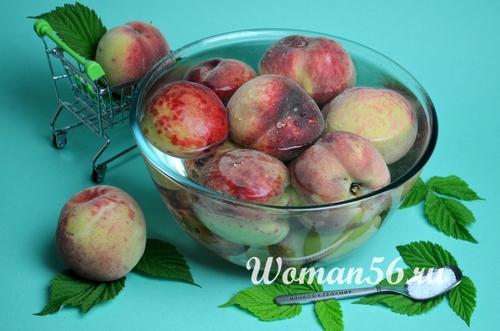 мытые персики