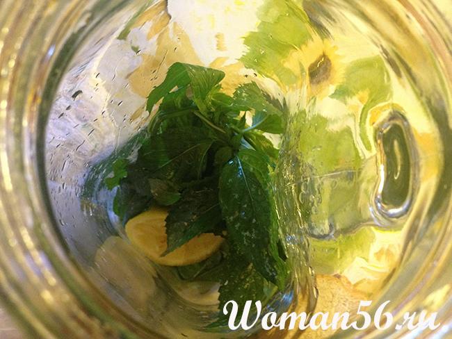 Мохито безалкогольный с лимоном