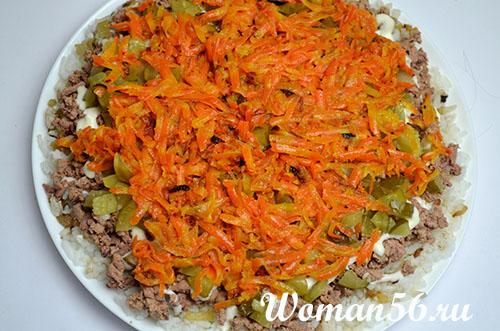 морковь для салата из куриной печени