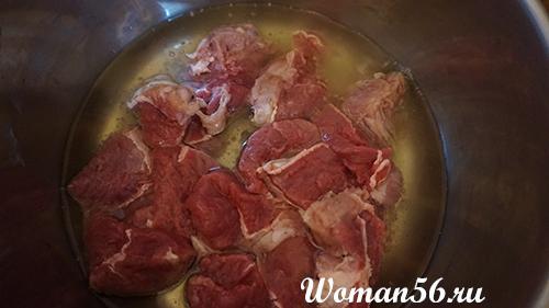мясо лосятины в масле