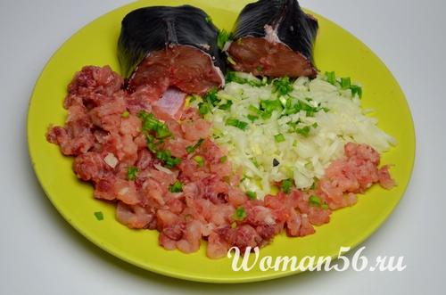нарезанное мясо сома