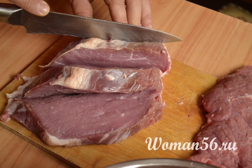 нарезанная говядина для гриля