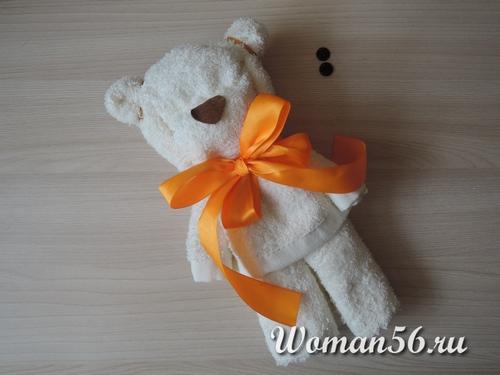 носик для медвежонка из полотенца