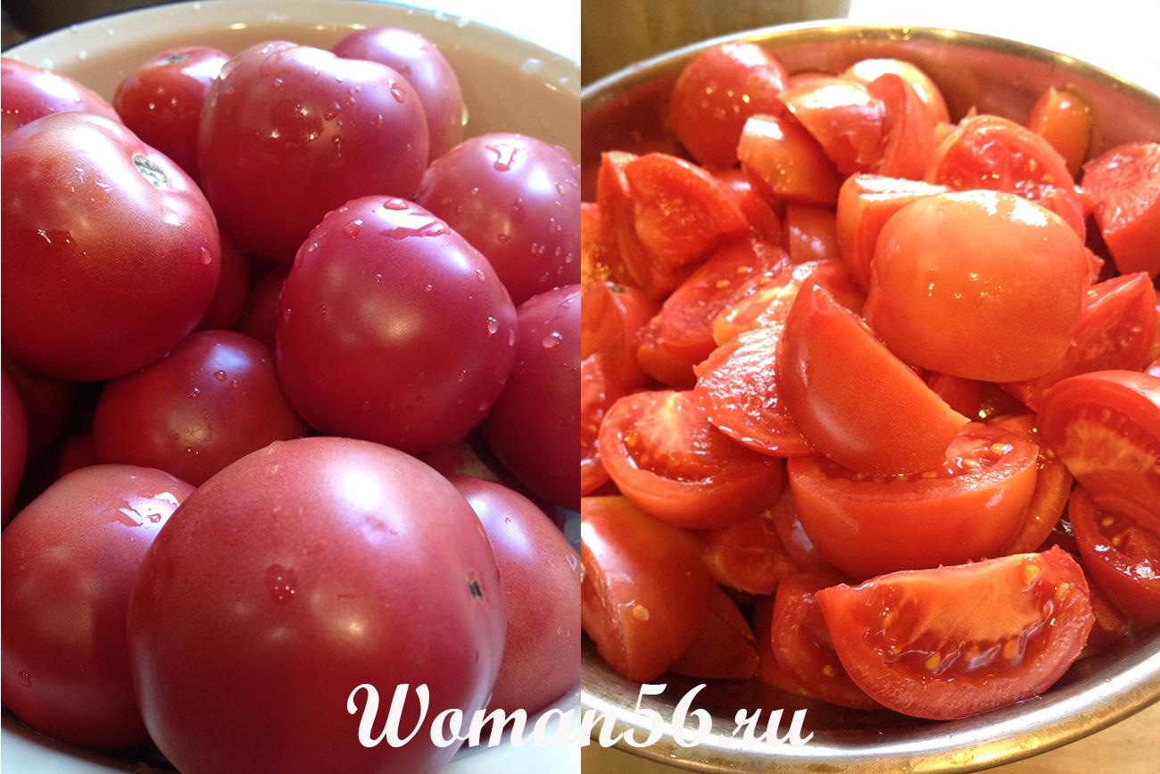 Огонек из помидор