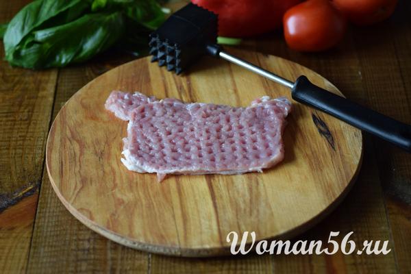 отбитое мясо для рулетиков