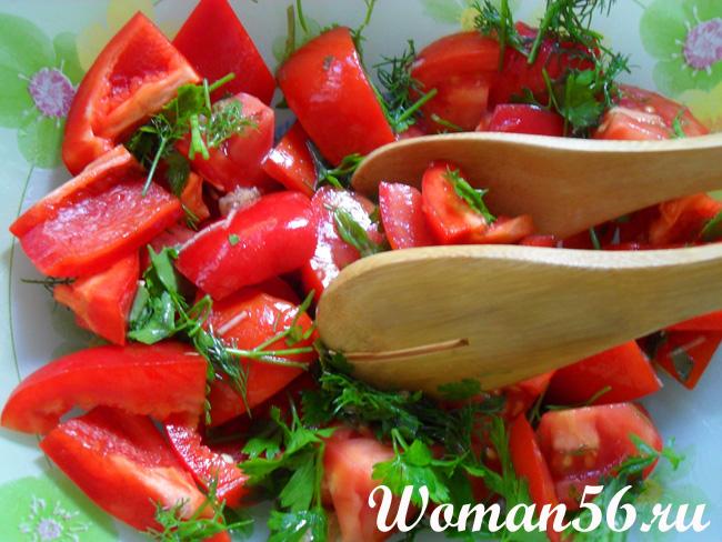 Овощной салат с соевым соусом