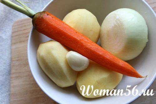 овощи для грибного супа