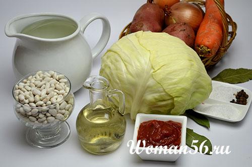 овощи для постного борща