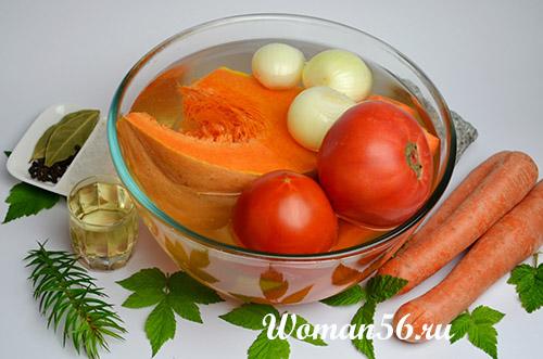 овощи для икры из тыквы