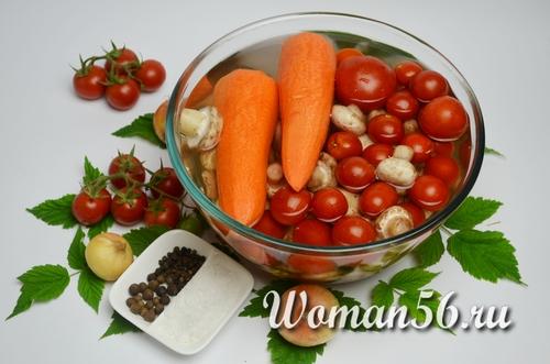 овощи для салата на зиму
