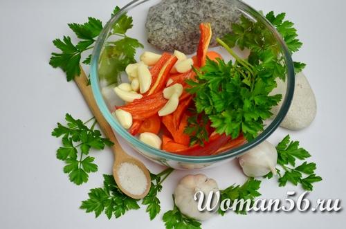 овощи для фаршировки зеленых помидор
