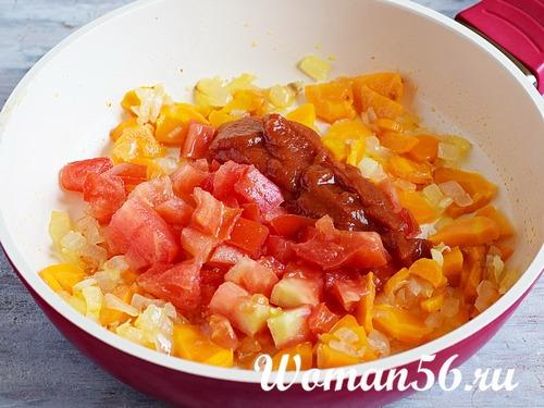 пассеровка овощей в сковороде