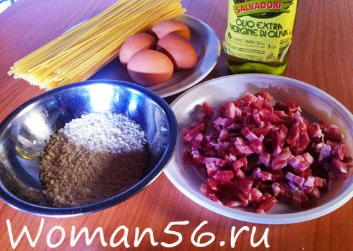 ингредиенты Паста Карбонара
