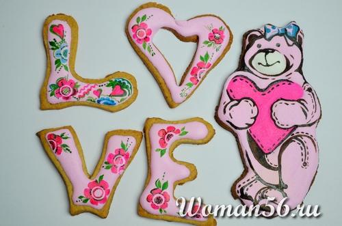 печенье на день всех влюбленных
