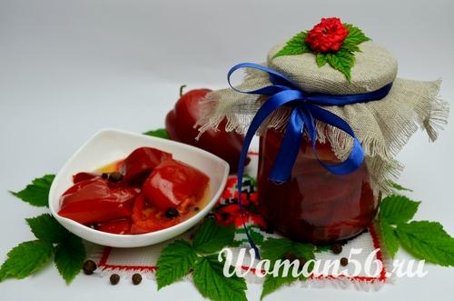 Перец маринованный с медом на зиму