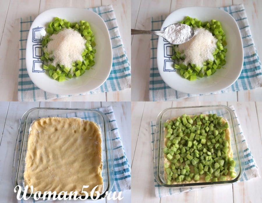 начинка из ревеня для пирога