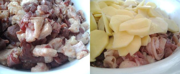 мясо гуся с картошкой